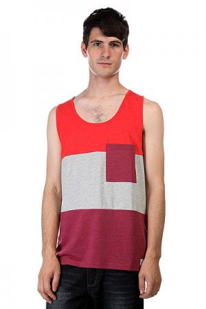 Майка  Pouch Tank Burgundy Melange CLWR. Цвет: красный,серый,бордовый