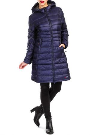Пальто YETI. Цвет: синий