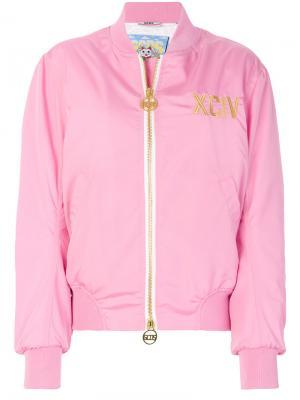 Куртка-бомбер на молнии Gcds. Цвет: розовый и фиолетовый