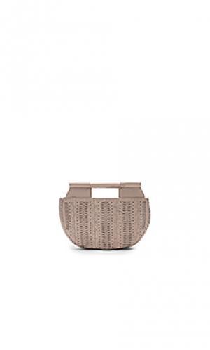 Маленькая сумка тоут evelina Cleobella. Цвет: светло-серый