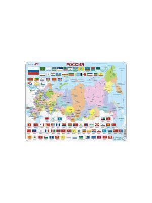 Пазл Россия (Русский) LARSEN AS. Цвет: белый, голубой, желтый, зеленый, оранжевый, синий