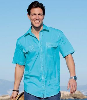 Рубашка из Хлопка AFM. Цвет: синии