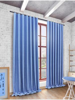 Готовая штора SANPA HOME COLLECTION. Цвет: голубой