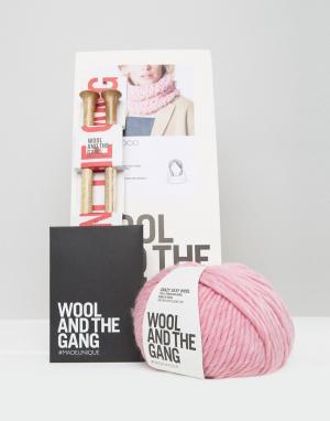 Wool and the Gang Набор для вязания шарфа-снуд &. Цвет: розовый
