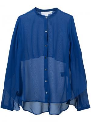 Прозрачная блузка Robert Rodriguez. Цвет: синий