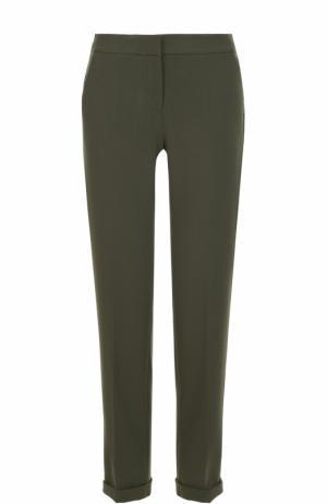 Укороченные брюки прямого кроя MICHAEL Kors. Цвет: темно-зеленый