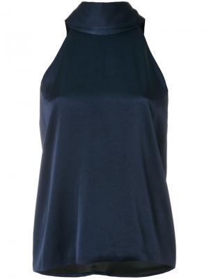 Блузка без рукавов Galvan. Цвет: синий