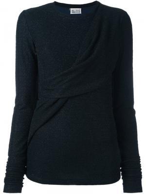 Пуловер с драпировкой Arthur Arbesser. Цвет: синий