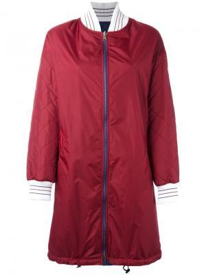 Пальто на молнии IM Isola Marras I'M. Цвет: красный