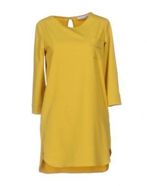 Короткое платье CHILI PEPPERS. Цвет: желтый