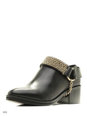 Ботинки EEIGHT. Цвет: черный, золотистый