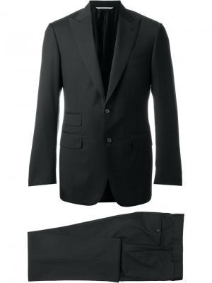 Строгий брючный костюм Canali. Цвет: чёрный