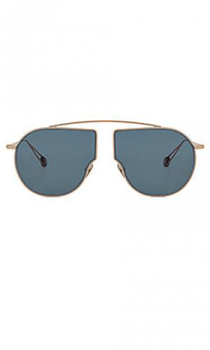 Солнцезащитные очки place du pont neuf Ahlem. Цвет: металлический медный