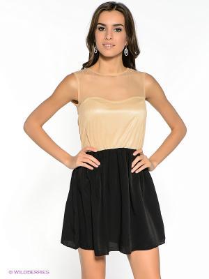 Платье Compania Fantastica. Цвет: черный, бежевый