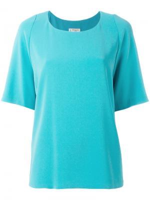 Классическая футболка Alberto Biani. Цвет: синий