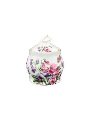 Горшочек для меда Душистый горошек Elan Gallery. Цвет: белый, зеленый, фиолетовый, розовый