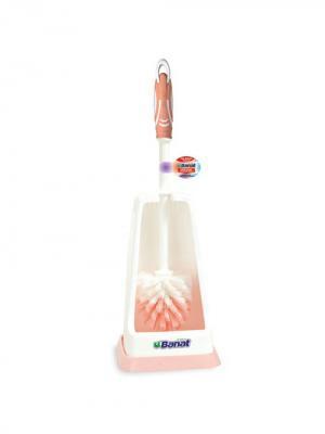 Комплект для чистки унитаза, подвесной, квадратный Banat. Цвет: розовый, белый