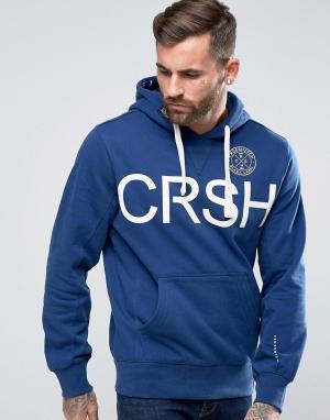 Crosshatch Худи с логотипом. Цвет: синий