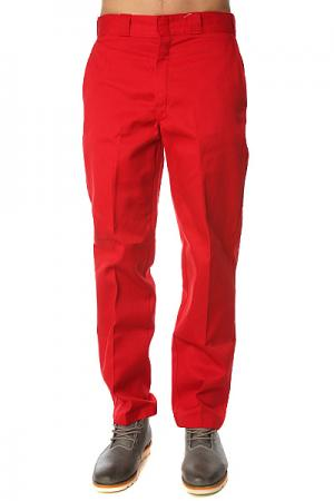 Штаны прямые  Original 874 Work Pant Er English Red Dickies. Цвет: красный