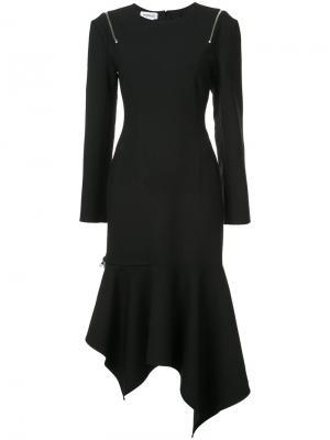 Peekaboo zipped shoulder asymmetric dress Monse. Цвет: чёрный