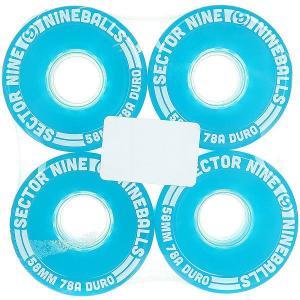 Колеса для скейтборда лонгборда  Wheels Assorted 78A 58 mm Sector 9. Цвет: голубой