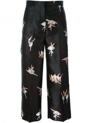Укороченные брюки с принтом балерин Rochas. Цвет: чёрный