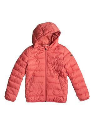 Куртка ROXY. Цвет: розовый, бледно-розовый, коралловый