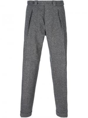 Прямые брюки Carven. Цвет: серый