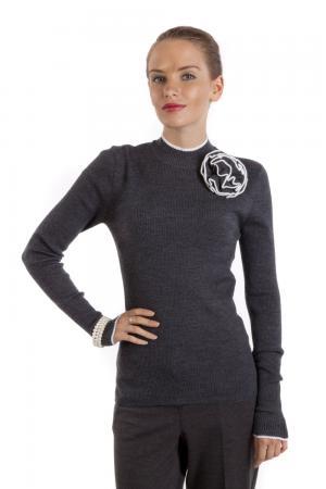 Пуловер Just Valeri. Цвет: серый