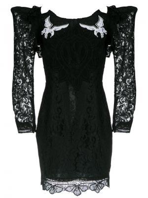 Short lace dress Martha Medeiros. Цвет: чёрный