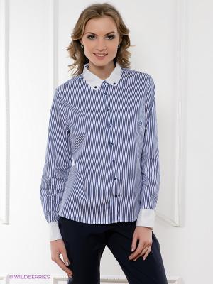 Рубашка ZENDRA. Цвет: белый, темно-синий