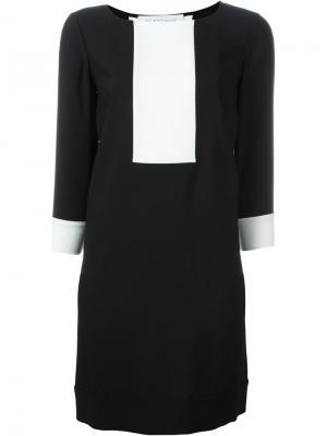Платье-шифт с контрастной панелью Gianluca Capannolo. Цвет: чёрный