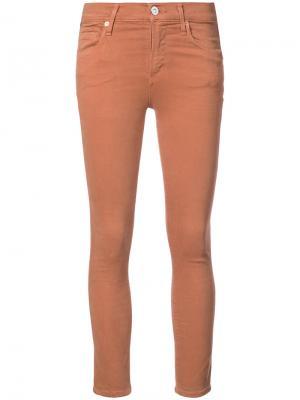 Укороченные джинсы Citizens Of Humanity. Цвет: жёлтый и оранжевый