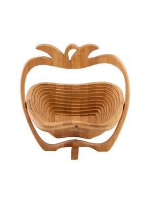 Доска разделочная бамбук трансформер в форме яблока, 30х27см Vetta. Цвет: бежевый