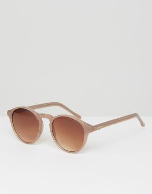 Komono Круглые солнцезащитные очки Devon. Цвет: коричневый