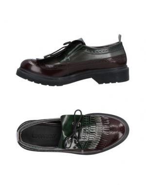 Обувь на шнурках LE QARANT. Цвет: баклажанный