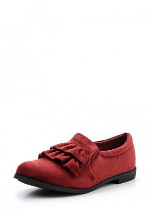 Слипоны Sweet Shoes. Цвет: бордовый