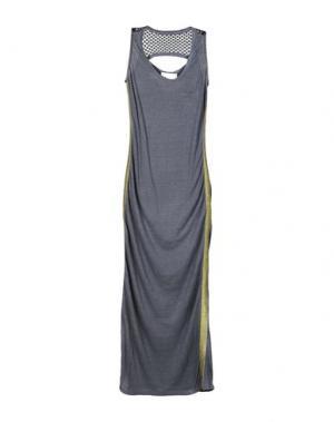 Длинное платье 8PM. Цвет: свинцово-серый