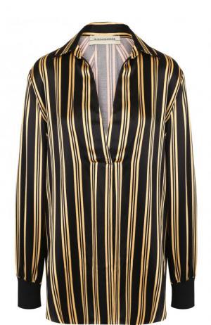 Блуза свободного кроя в полоску By Malene Birger. Цвет: черный