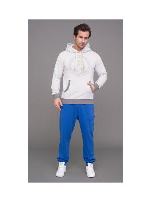 Спортивные брюки CHKALOV. Цвет: голубой