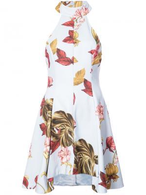 Платье с цветочной вышивкой C/Meo. Цвет: синий