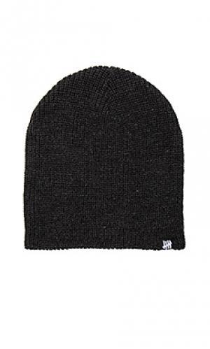 Вязанная шапочка Undefeated. Цвет: черный