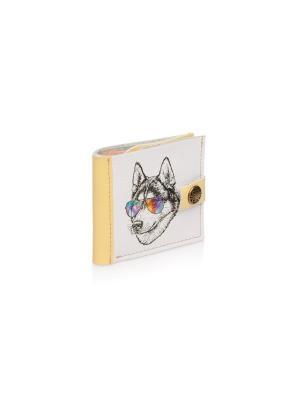 Портмоне Слим-браслет  Ванильный волк Eshemoda. Цвет: светло-желтый