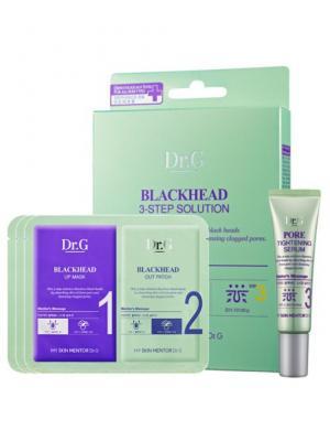 Набор трехступенчатый для очищения пор Pore Line BLACKHEAD 3-Step Solution, 10 мл+1мл/3мл*3 Dr.G. Цвет: белый