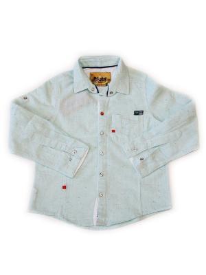 Детская рубашка Pilota. Цвет: серо-голубой