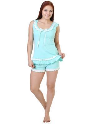 Пижама Tenerezza. Цвет: бирюзовый