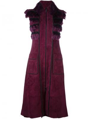 Пальто Yoko без рукавов Jitrois. Цвет: розовый и фиолетовый