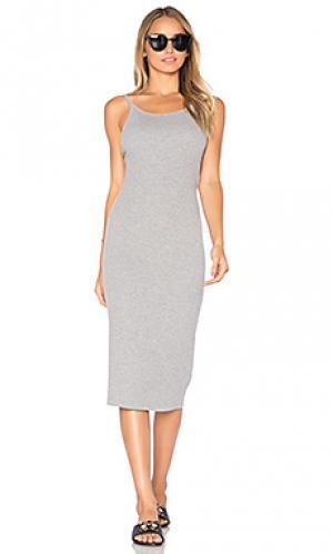 Платье с плетеными бретельками ROLLAS ROLLA'S. Цвет: серый