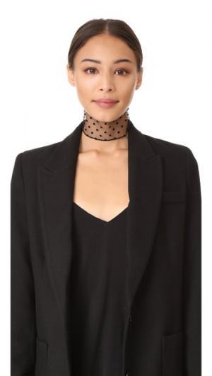 Флокированный шарф Twilly с рисунком в горошек Marc Jacobs