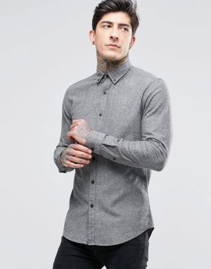 Farah Оксфордская рубашка слим. Цвет: серый